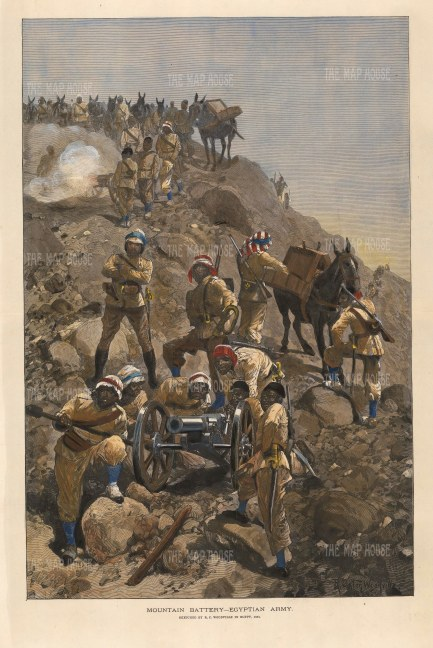 The Mountain Battery: After the celebrated war artist RC Woodville. First Anglo-Sudan War.