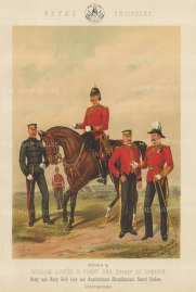"Jones & Co: Royal Engineers. c1886. An original antique chromolithograph. 13"" x 18"". [MILp8]"