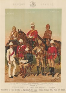 Foreign Service: India and South Africa. Cavalry and Infantry.