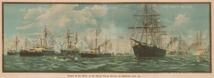 Diamond Jubilee Review of the Royal Navy's 165 ships, included 21 battleships and 44 cruisers.