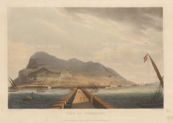 "Jenkins: Gibraltar. 1816. An original colour antique aquatint. 11"" x 8"". [SPp1032]"