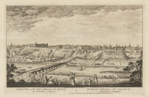 "Sayer: Madrid. 1774. An original antique copper engraving. 18"" x 12"". [SPp1058]"