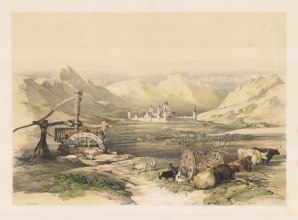 "Roberts: Escurial, Madrid. 1837. A hand coloured original antique lithograph. 18"" x13"". [SPp560]"
