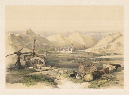 "Roberts: Escurial, Madrid. 1837. A hand coloured original antique lithograph. 18"" x 13"". [SPp560]"