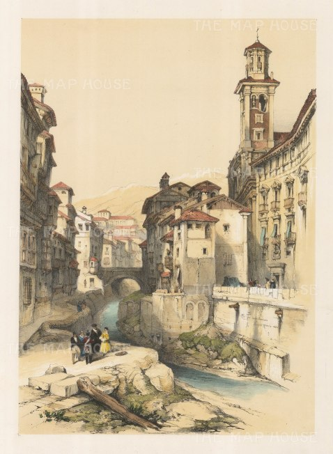 "Roberts: Granada. 1837. A hand coloured original antique lithograph. 11"" x 16"". [SPp709]"