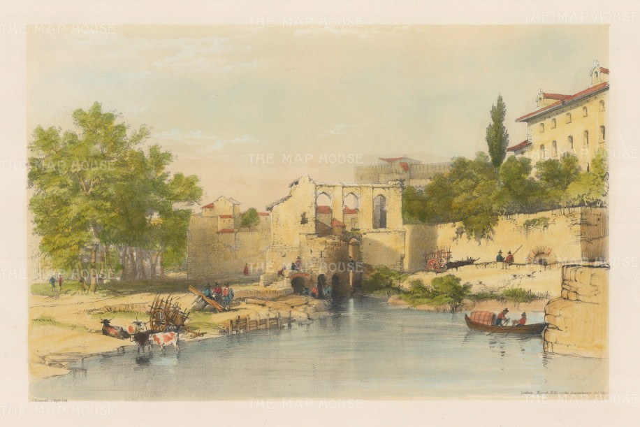 The Moorish mills on the Guadalquivir River.
