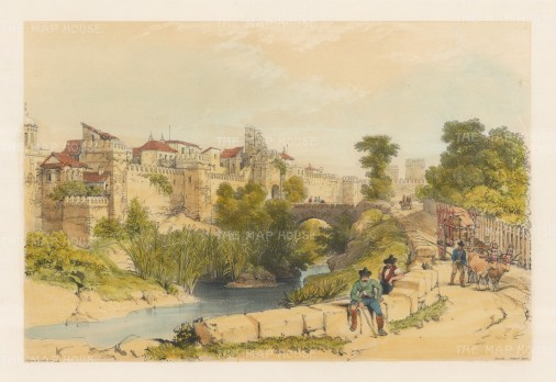 "Vivian: Seville. 1838. An original colour antique lithograph. 17"" x 12"". [SPp852]"
