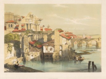 "Roberts: Cordoba. 1832. A hand coloured original antique lithograph. 18"" x 13"". [SPp911]"