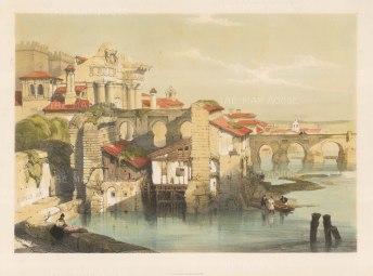 """Roberts: Cordoba. 1832. A hand coloured original antique lithograph. 18"""" x 13"""". [SPp911]"""