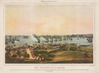 SOLD Battle of Havana 1762: The British under the Earl of Albermarle capturing the 'Queen of the Antilles'. Seven Years War: