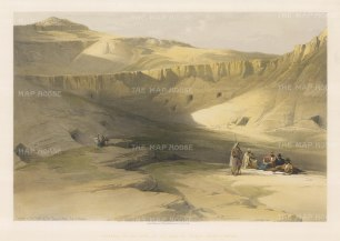 Entrance to the Tombs of the Kings of Thebes: Biban-el-Molook in the Valley of the Kings.
