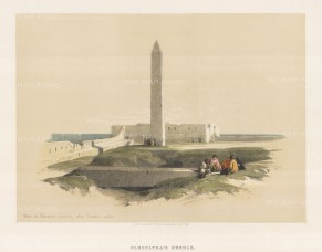 Cleopatra's Needle. Figures in the foreground.