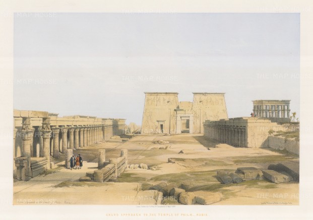 The Grand Approach to the Temple of Philae.