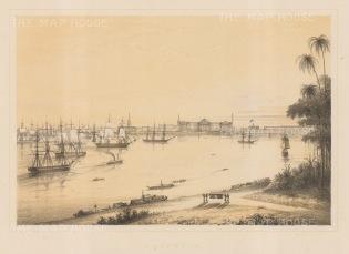 Harbour of Calcutta (Kolkata).