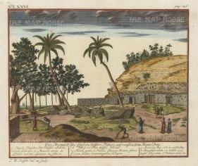 Adam's Peak (Sri Pada): Prospect of the shrine with Brahmins and key in Dutch.