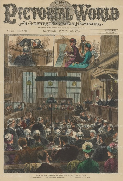 Old Bailey: Trial of Dr Lamson the Wimbledon poisoner.