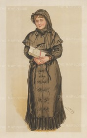 Portia of the Courts: Georgina Weldon succesfsully sued numerous persons including her husband and her doctor whilst representing herself, and over 20 years brought over a 100 cases to the court. Portia is in reference to the heroine of Shakespeare's The Merchant of Venice. SPY.
