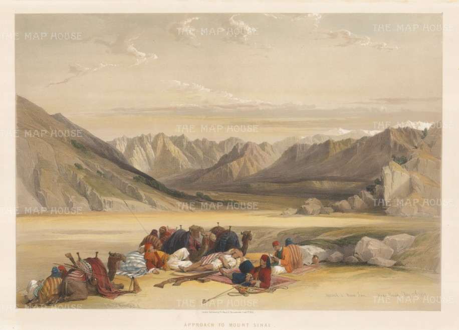 Mount Sinai, Panorama from the valley approach.
