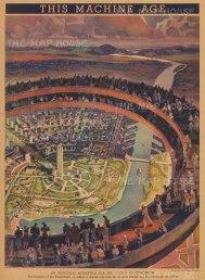Machine Age: View of the Industrial Metropolis. World's Fair.