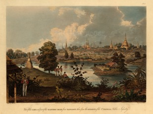 SOLD Rangoon: Inya Lake and the Eastern Road at the advance of the 7th Madras Native Infantry.