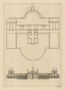 Architectural Elevation: Facade and plan XXXVI.