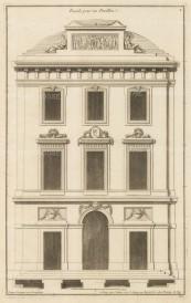 """Deneufforge: Pavilion Facade. 1775. An original antique copper engraving. 9"""" x 14"""". [ARCHp929]"""