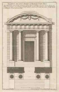 Plan and Elevation of an entrance in the Doric Order