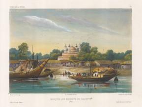"Vaillant: Hoogly River, Calcutta. c1850. A hand coloured original antique lithograph. 12"" x 10"". [INDp1265]"