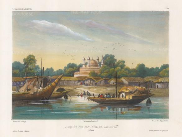 "Vaillant: Kolkata. c1850. A hand coloured original antique lithograph. 12"" x 10"". [INDp1265]"