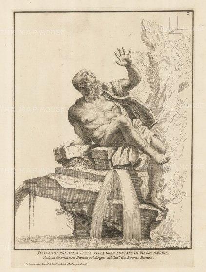 Figure of the Rio del Plata. Grande Fountana di Piazza Navona.