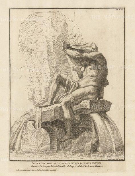 Figure of the Nile: Grande Fountana di Piazza Navona.