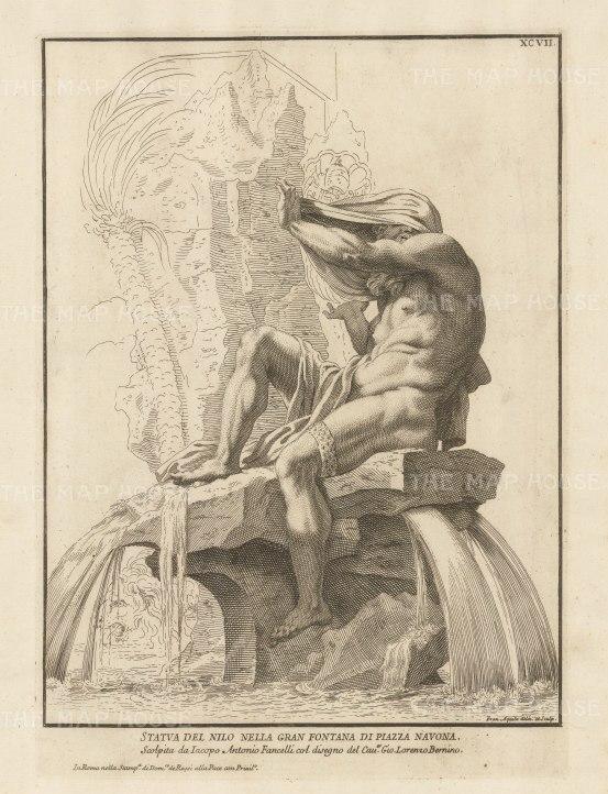 Figure of the Nile. Grande Fountana di Piazza Navona.