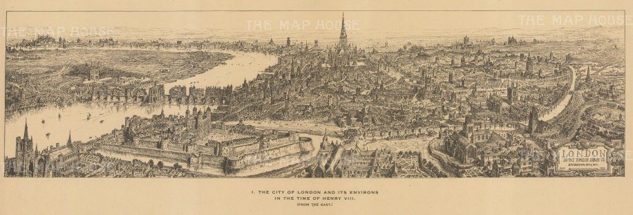 London in the time of Henry VIII: After the architectural artist Henry William Brewer.