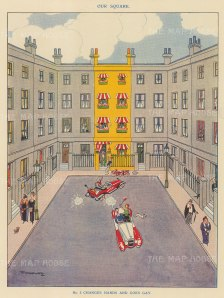 """Punch: No 5 Changes Hands and Goes Gay. 1923. An original vintage chromolithograph. 7"""" x 10"""". [MISCp5236]"""