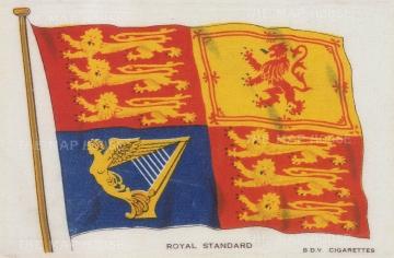 "BDV Cigarettes: Royal Standard. c1910. An original antique printed colour on silk. 6"" x 4"". [MISCp5391]"
