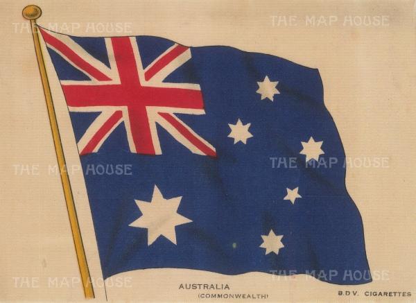 "BDV Cigarettes: Australia. c1910. An original antique printed colour on silk. 6"" x 4"". [MISCp5496]"