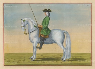 "Eisenberg: Le Sage. 1727. A hand coloured original antique copper engraving. 13"" x 10"". [NATHISp2705]"