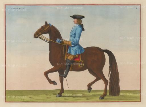 "Eisenberg: L'Esperance. 1727. A hand coloured original antique copper engraving. 13"" x 9"". [NATHISp3596]"