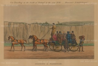 "Hayes: Coach Travelling. 1900. An original colour antique aquatint. 15"" x 11"". [NATHISp6980]"