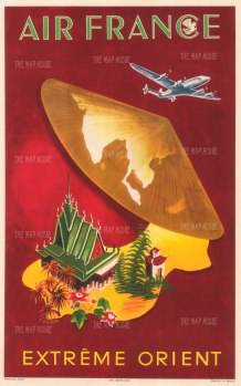 "Air France: Extreme Orient. 1950. An original vintage colour print. 12"" x 18"". [SEAS4863]"