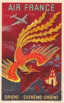 "Air France: Extreme Orient. 1948. An original vintage colour print. 12"" x 18"". [SEAS4871]"