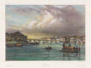 "Vaillant: Manila. c1850. A hand coloured original antique lithograph. 14"" x 10"". [SEASp1307]"