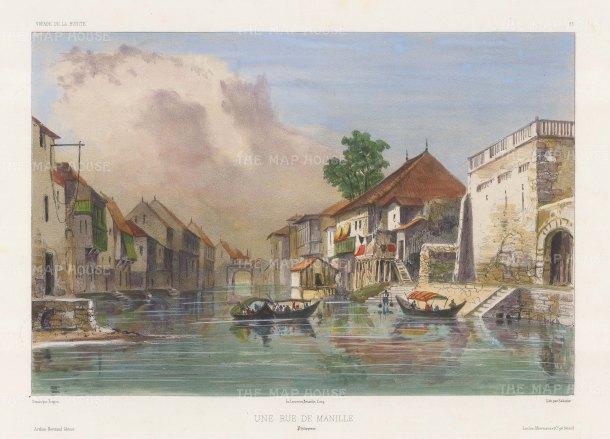 "Vaillant: Manila. c1850. A hand coloured original antique lithograph. 14"" x 10"". [SEASp1323]"
