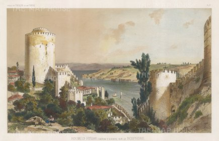 Bosphorus: Roumely-Hissar (Castle of Europe). After Jules Laurens.