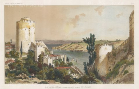 Bosphorus: Roumely-Hissar (Castle of Europe) .After Jules Laurens.
