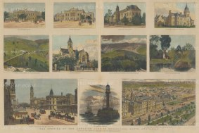 Adelaide: Opening of the Adelaide Jubilee Exhibition. Eleven scenes including Government House.