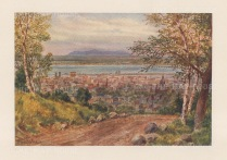 Panorama of Montreal from the environs.