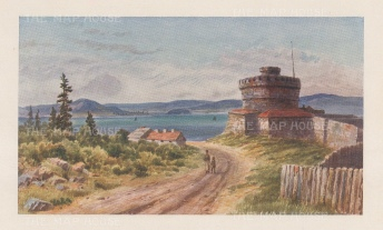 Halifax: York Redoubt and the harbour.