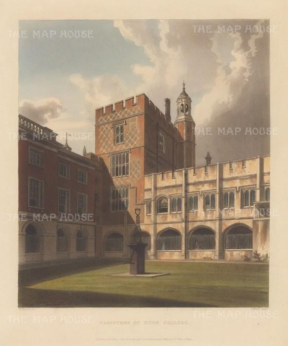 "Ackermann: Eton, Berkshire. 1816. An original colour antique aquatint. 10"" x 12"". [ENGp218]"