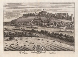 "Kip: Windsor, Berkshire. 1715. An original antique copper engraving. 19"" x 14"". [ENGp280]"